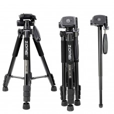 ZOMEI Q222 Lightweight Aluminum Tripod Monopod Portable Travel Camera Stand